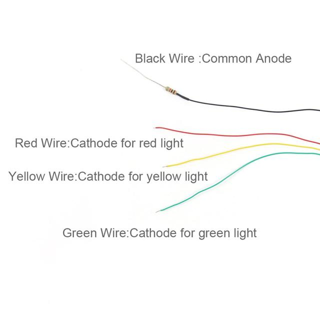 JTD04 5pcs Model Railway 1:87 3-Light Block Signals Green/Yellow/Red Traffic Signal Lights HO Scale 6.5cm 12V Led New 5