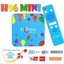 Android 9.0 TV Box TX 128GB Wifi h96 mini Allwinner H6 Quad-Core Android-Box Smart-Tv Media-Player Youtube Google set top стоимость