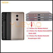 MTK Helio X20 Back Cover For Xiaomi Redmi Note 4 Battery Back Cover Case Redmi Note 4 Global for Xiaomi Redmi Note 4X Housing cheap YUEYAO Other
