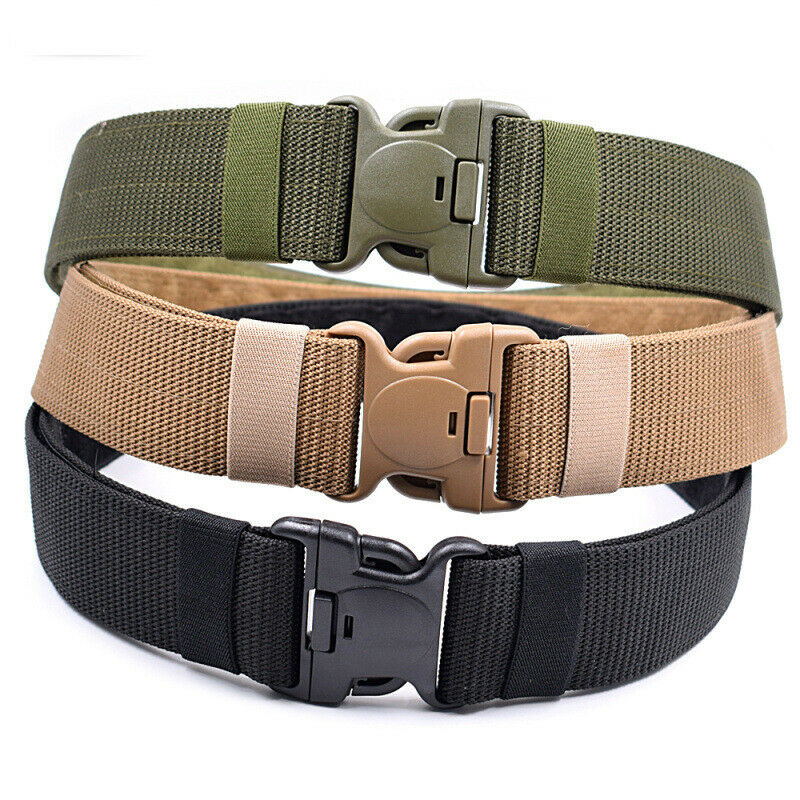 Outdoor Tactical Belt Men Women  Military Army  Canvas Adjustable Waistband 140CM