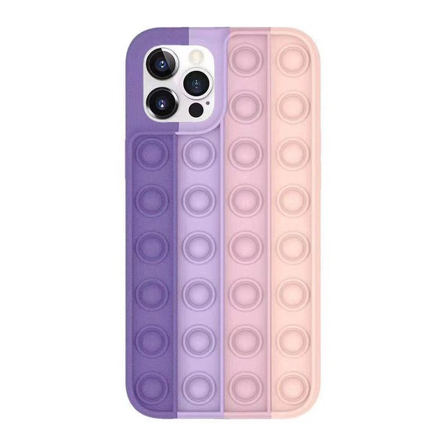 Pop Fidget Bubble Silicone Phone Case For iPhone - for iphone 11, 1699-G-1
