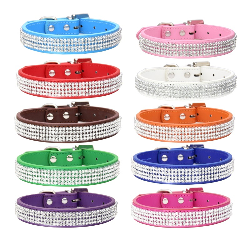 Pet Supplies Fashion Gang Drill 12 Color L Small Medium-sized Dog Hand Holding Rope Dog Collar