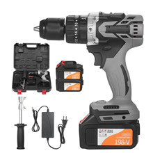 Home Cordless Electric Drill Driver 21V 6.0A Batteries Max Torque 200N.m Variable Speed Impact Hammer Drill Electric Screwdriver