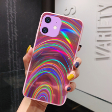 Colorful Aurora Gradient Phone Case for IPhone 11 Pro XS Max 7 8 6S Luxury Rainbow Patterned Cover 10 Coque