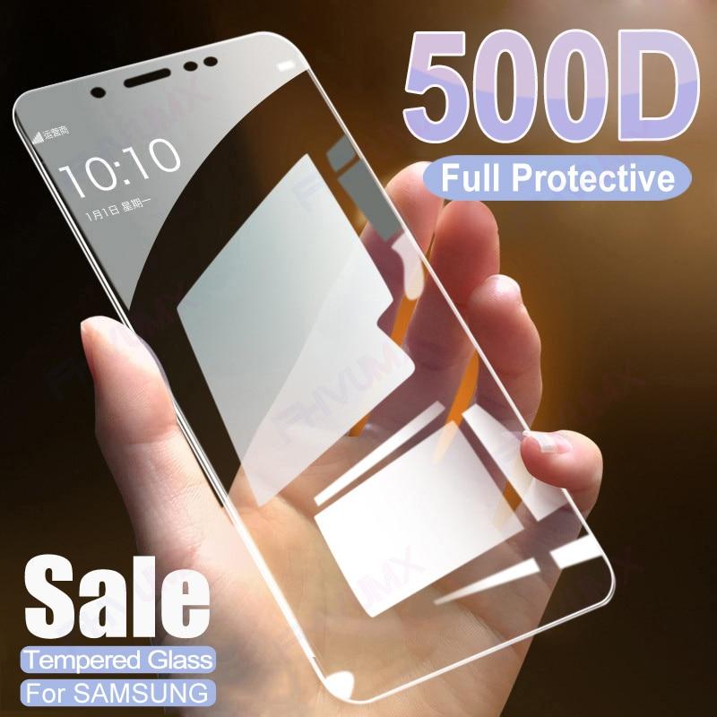 500D Completo Vidro De Proteção Para Samsung Galaxy J4 J6 Plus j2 J3 J7 J8 A6 A8 Plus A5 A7 A9 2018 Filme Protetor de Tela 2018 de Vidro