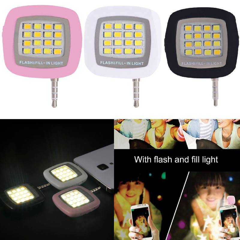 Fill-Light Lamp Flash Mobile-Phone-Selfie Photography Brightness Mini LED 16pcs  title=