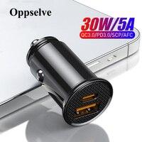Cargador Mini USB para coche, dispositivo de carga rápida 3,0 PD, USB tipo C QC PD 3,0, para Samsung Galaxy S21