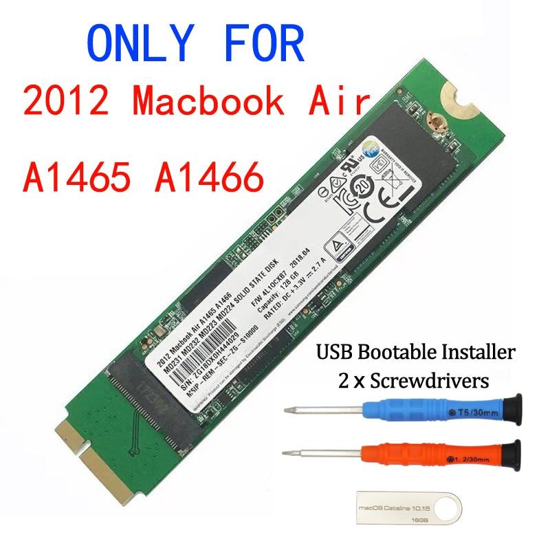 Новый 128 ГБ 256 ГБ 512 ГБ 1 ТБ SSD для 2012 Macbook Air A1465 A1466 Md231 Md232 Md223 Md224 твердотельный накопитель MAC SSD