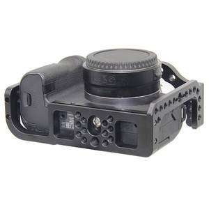 Image 4 - Protective Camera Cage for Canon EOS R w/ Coldshoe 3/8 1/4 Thread Holes Camera Video Stabilizer Quick Release Plate Bracket