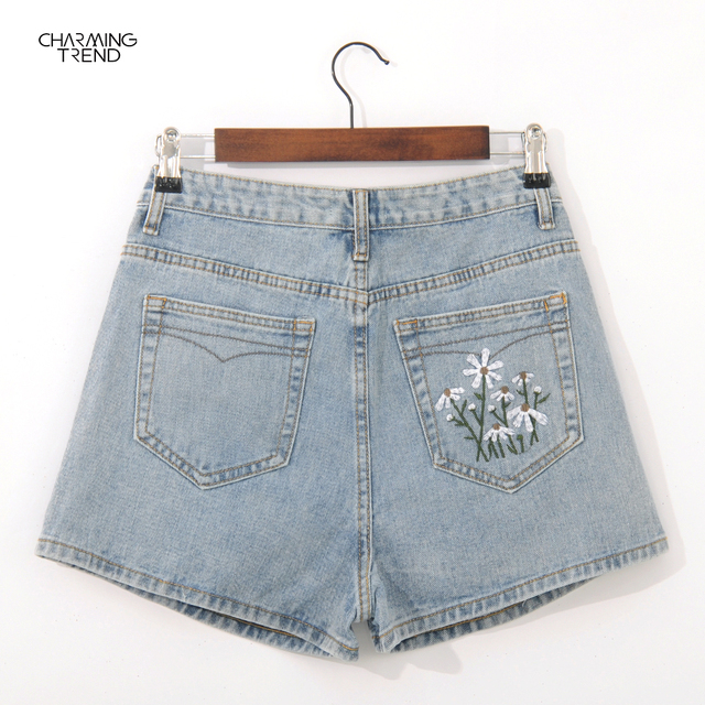 2021Summer Casual Shorts Female High Waist Shorts Fashion Women's Denim Shorts Boyfriend Style Denim Shorts Women's Shorts Denim 5