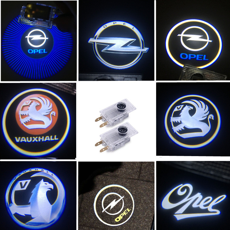 2Pcs Welcome Light Car LED Door Welcome Logo Laser Projector Shadow Light For Opel Insignia A B 2009---2018 Opel Logo Car Lights