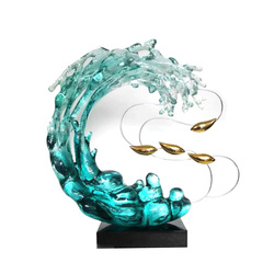 Art Decorative Water Like Resin Craft Abstract Sculpture Home Hotel Decoration Standing Sculptures