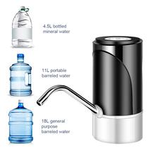 Automatyczny Bump do butelki z wodą elektryczna pompa wody pitnej dozownik przenośny USB Charge Bottle pompa wody do 4 5-19 litrów tanie i dobre opinie CN (pochodzenie) Z tworzywa sztucznego ABS electronic components water dispenser gallon Electric Drinking Water Pump USB Charging Water Dispenser