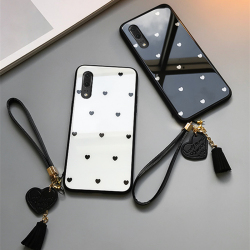 На Алиэкспресс купить чехол для смартфона case & strap for vivo s1 pro iqoo neo z3i z1 nex phone case for vivo nex s u1 z5x small love heart glass hard back cover
