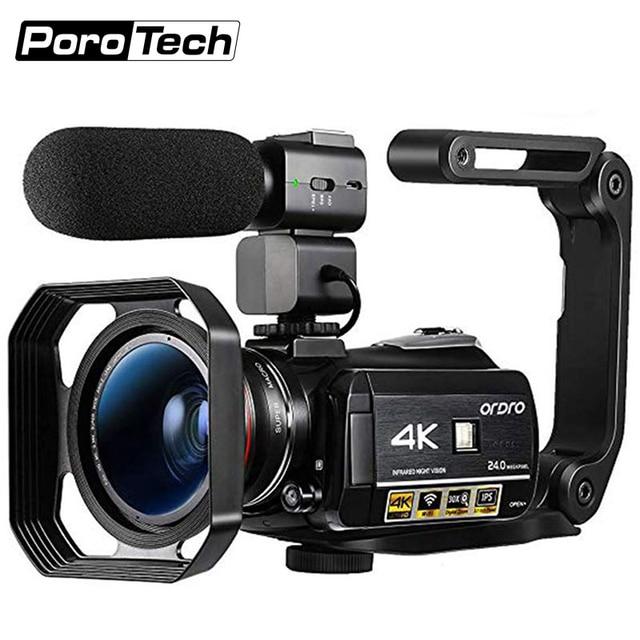 3.1inch Screen Digital Camera Professional Night-vision Recording Used As PC Cam Camcorder Ultra HD 4K Video Camera Anti-shake 1