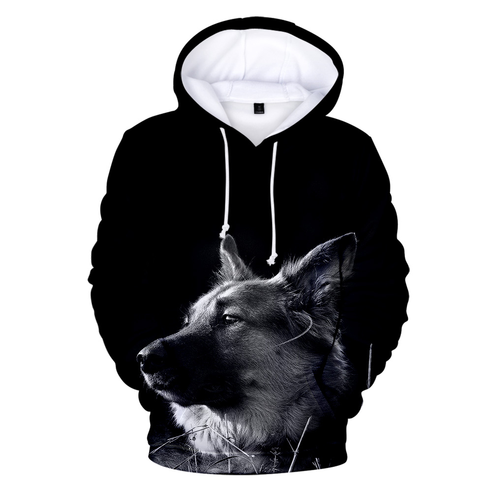 2019 German Shepherd 3D Full Print Hoodies Fashion Women/Men Long Sleeve Hooded Sweatshirt German Shepherd Trendy Streetwear