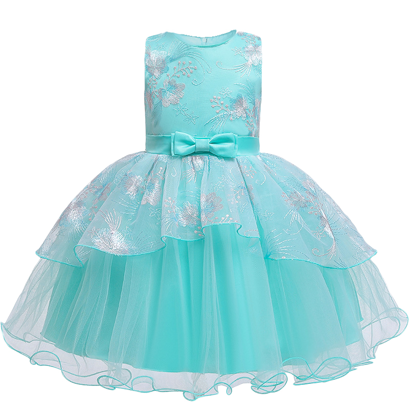 Baby Girls Christmas Party Tutu Dress Girls Wedding Princess Ball Gown Brithday Dresses Children Clothes Kids Clothing New Year