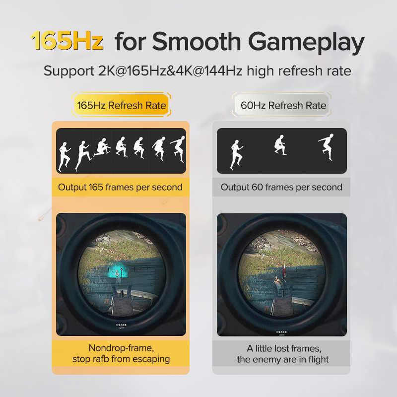 Displayport 1.4 cabo 8 k 4 k hdr 165 hz 60 hz porta de exibição adaptador para vídeo pc portátil tv dp 1.4 porta exibição 1.4 cabo