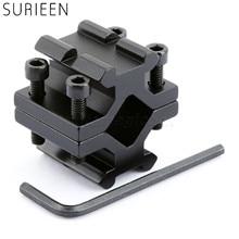 цена на Adjustable Double Rail  20mm Picatinny Weaver Rail Barrel Mount Adapter for Scope Rifle Shotgun Flashlight Laser w/ Wrench