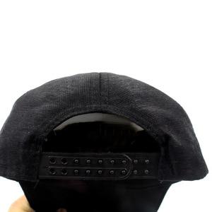 Image 4 - New Fashion black Snapback Baseball Cap cotton Gorras Caps Hats Woman Sequin Hip Hop Hats For Men Women