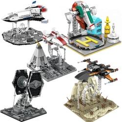 Marte espaço cidade tensegrity esculturas star fighter moc blocos de construção x-wing falcon y-wing anti-gravidade crianças brinquedos criança