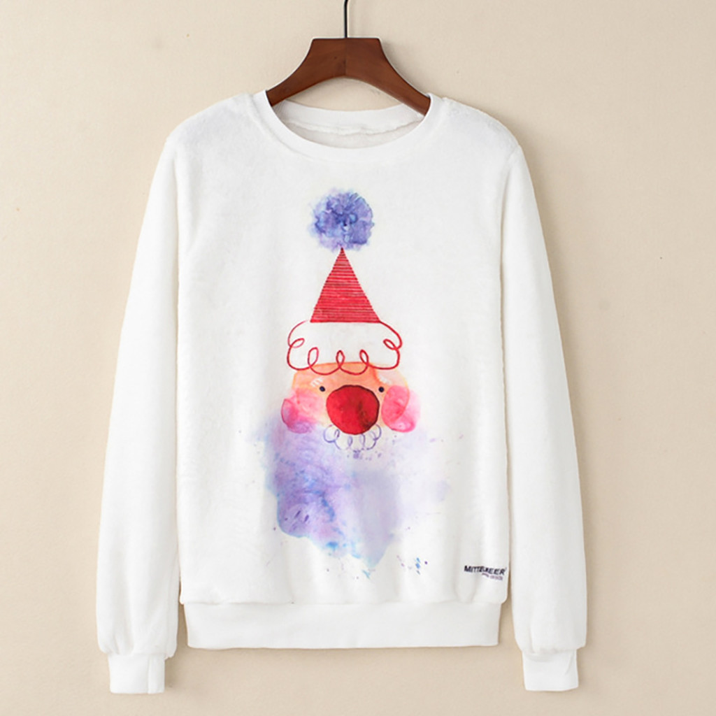 Cute Lovely Carton Pattern Hoodies Girls Ladies Long Sleeve Pullover Tops Women Casual Christmas Print Sweatshirt Naiste kampsun