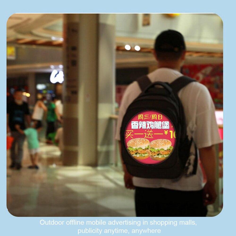 publicidade luz saco conexão bluetooth