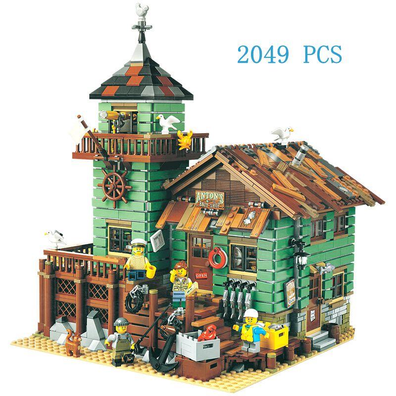 2049 pièces cabane de pêcheur compatible avec 21310 bâtiment maison modèle blocs de construction jouets éducatifs pour enfants cadeaux