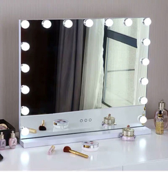 Голливудское зеркало для макияжа, светильник для туалетного столика, светодиодный светильник с диммером, регулируемое косметическое зерка...