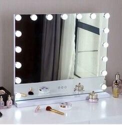 Hollywood Specchio Per Il Trucco con la Luce Vanity Tavoli Specchio Illuminato con Dimmer LED Illuminato Cosmetico di Bellezza Specchio Regolabile