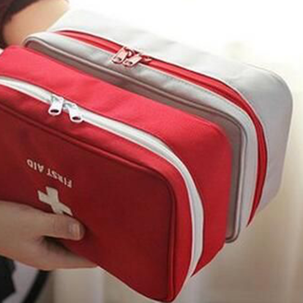 Portable Rescue Box Storage Bag First Aid Kit Bag Emergency Medicine Bag Outdoor Pill Survival Organizer Travel Survival