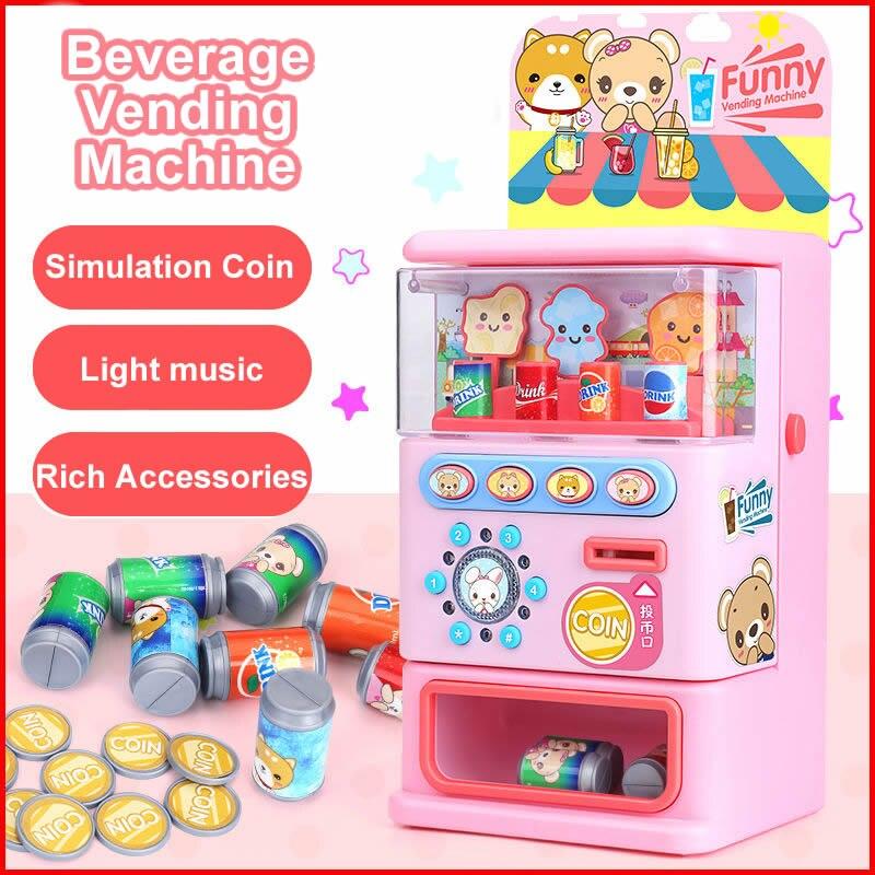 Children's Toy Simulated Vending Machine Mini Children's Puzzle Game Pretend Play Simulation Sound Children's Puzzle Game Toys