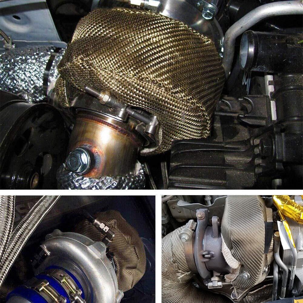 Vr-100% cheio de titânio t3 turbo carregador calor escudo cobertura cobertura apto para: t2 t25 t28 gt28 gt30 gt35 acessórios do carro-5