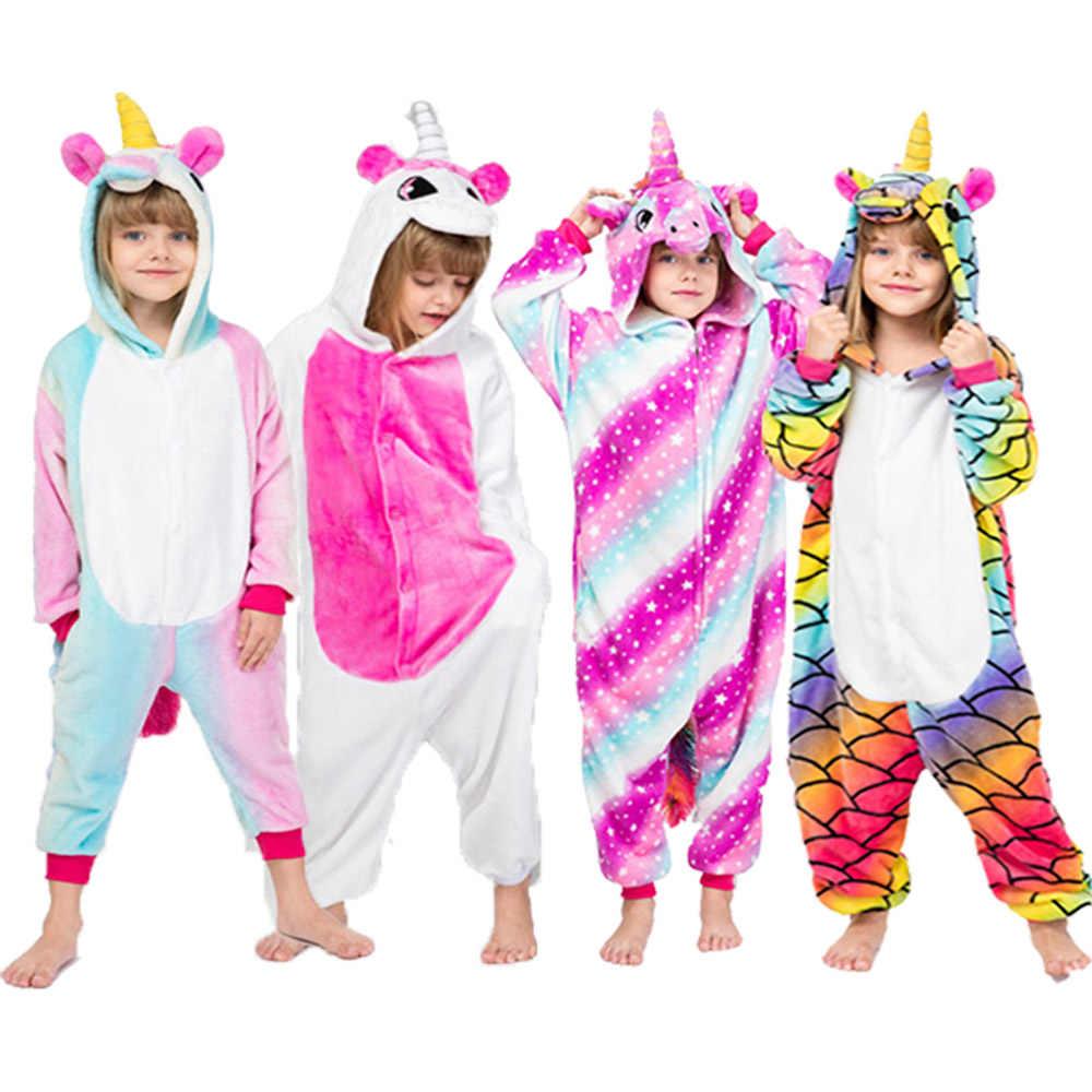 เสื้อผ้าเด็กยีราฟยูนิคอร์น Kigurumi สัตว์การ์ตูนสีชมพู Licorne Onesie Sleepers เด็กชายฮาโลวีนเครื่องแต่งกาย Jumpsuit