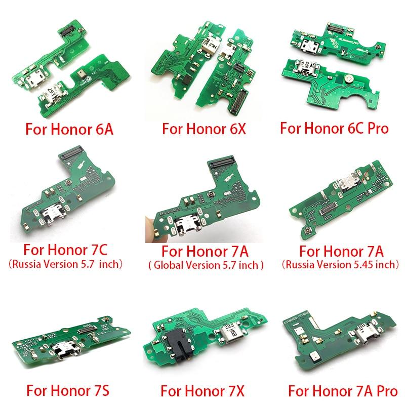 2pcs,USB Charger Charging Dock Port Connector Flex For Huawei Honor 6A 7S 6X 7X V10 5C 6C 8A Pro 7C 7A Global Version GR5 2017