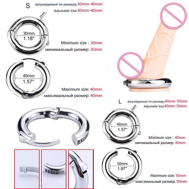 Cock Ring Penis Enlargement Metal Penis Ring Private Goods Ring Cock for Man Increase Penis Extender Intimate  Penis Sleeve Dick 5