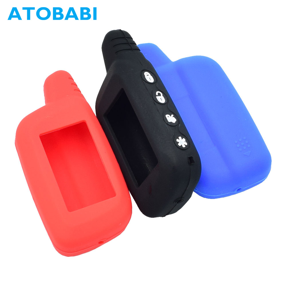 Silicone Car Key Case For Pantera SLK 300 350 400 450 600RS 625RS 650RS 675RS 2 Way Car Alarm LCD Keychain Remote Control Cover