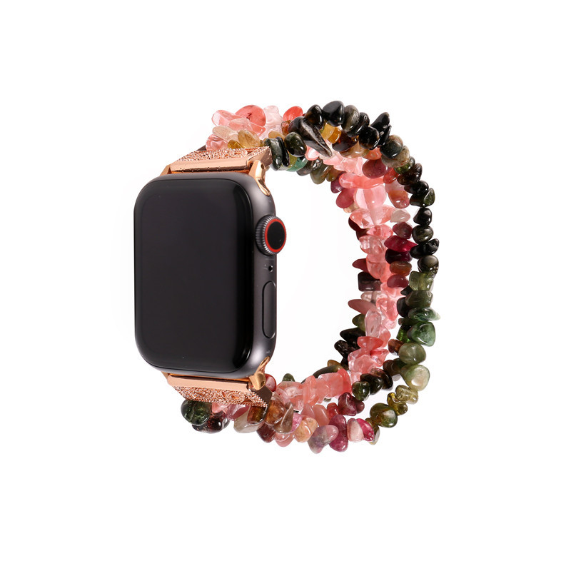 For Apple Watch Strap APPLE Watch Jewelry Rough Stone Watch Strap New Style Jewelry Watch Strap Factory Wholesale