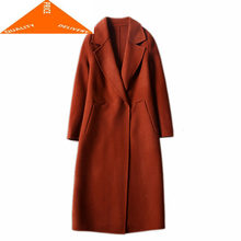 Winter Women Korean Clothes 2020 100% Wool Coat Female Elegant Long Woolen Jacket Vintage Ladies Abrigo Mujer 29009(China)