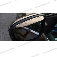 Lsrtw2017 Abs Car Rearview Rain Shade Trims for Geely Boyue 2016 2017 2018 2019 2020 lsrtw2017 abs car rearview rain shield strip trims for hyundai tucson 2015 2016 2017 2018 2019 2020