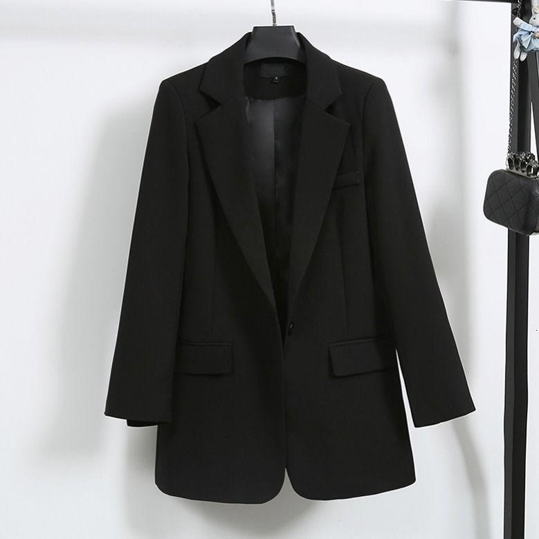 Elegant Black Single Button Women Blazer Jacket 1