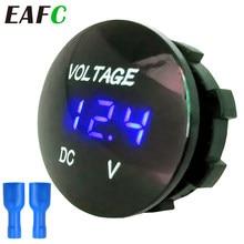 Medidor de voltaje Digital para coche, voltímetro de CC de 12V-24V para motocicleta, barco, ATV y camión