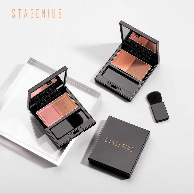 STAGENIUS Powder Blush Palette Makeup Pigments ธรรมชาติฐาน Mineral Blusher Palette
