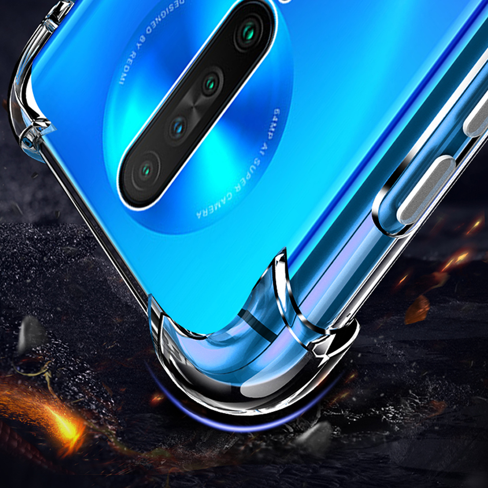 shockproof Clear Transparent phone back capinha,etui,coque,cover,case for xiaomi redmi k30 k 30 for xiomi silicone accessories