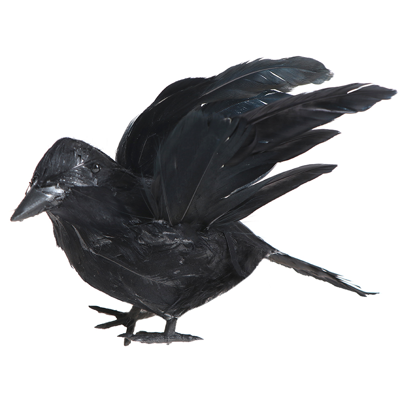 DIY Halloween Artificial Black Crow Gardening Outdoor Drive Birds Tool Party Prank Props Window Decor Bar Ornament Supplies