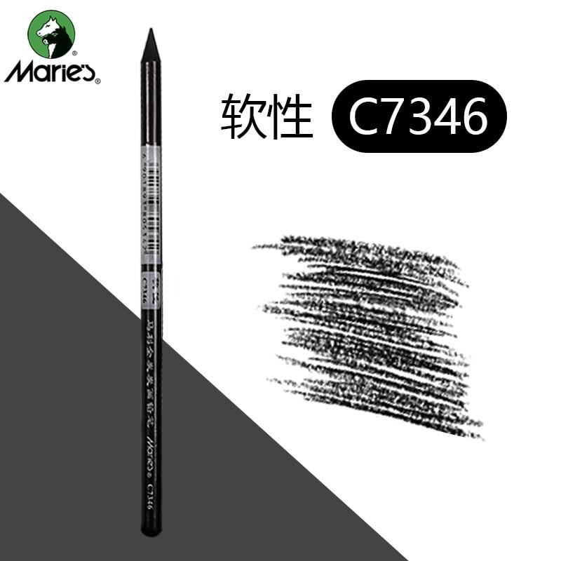 1/3/6 Pcs Artist Charcoal Sticks  Professional Manga Sketch Drawing Charcoal Pencil  Whole Lead Core Soft/Medium 2 Grades