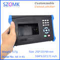 4 pcs, 250*155*69mm new plastic instrument enclosure control box with battery holder handheld enclosure for electronics device