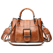 New Women Handbags Bucket Bag PU Leather Tote Fashion Bags for Women Designer Ladies Brown Zipper Shoulder Bag Bolsa Feminina