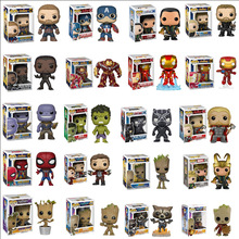 FUNKO POP Marvel Avengers Stan Lee Iron Man Captain America Collection Model PVC Action Figure Kids Toys Children Gifts 2018 marvel amazing ultimate spiderman captain america iron man pvc action figure collectible model toy for kids children s toys
