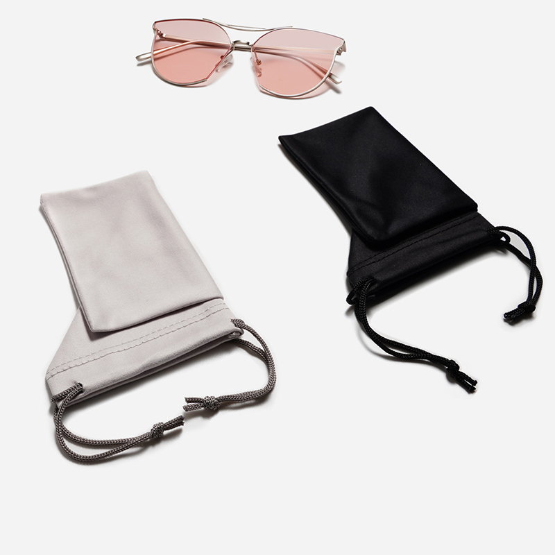 Fashion Solid Color Sunglasses Bag Portable Drawstring Eyeglasses Pouch Soft Delicate Glasses Cloth Bags Eyewear Accessories